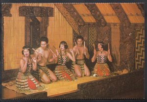 New Zealand Postcard - Maori Stick Game   LC4159