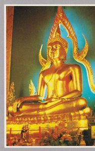 POSTAL B4921: TAILANDIA: ESTATUA DEL TEMPLO DE BUDA