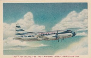 NORTHEAST Airlines CONVAIR airplane, 1950s ; in Flight