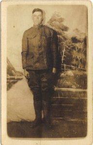 American Soldier World War I Vintage Real Photograph Postcard Antique