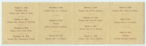 Vtg. Program The Query Club 1946-47 Fresno California Unused
