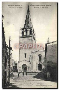 Old Postcard Tarascon Primary Entry of & # 39Eglise St. Martha Bell Tower 15th