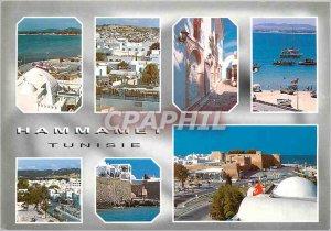 Postcard Modern Hammamet Tunisia