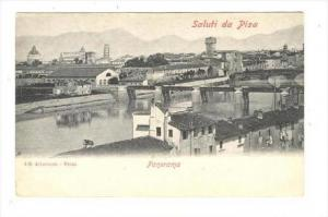 Panorama, Saluti Da Pisa (Tuscany), Italy, 1900-1910s