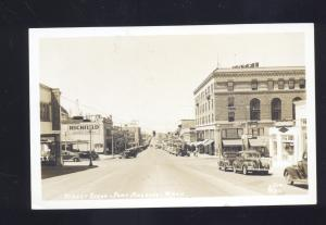 RPPC PORT ANGELES WASHINGTON DOWNTOWN 1940's CARS REAL PHOTO POSTCARD