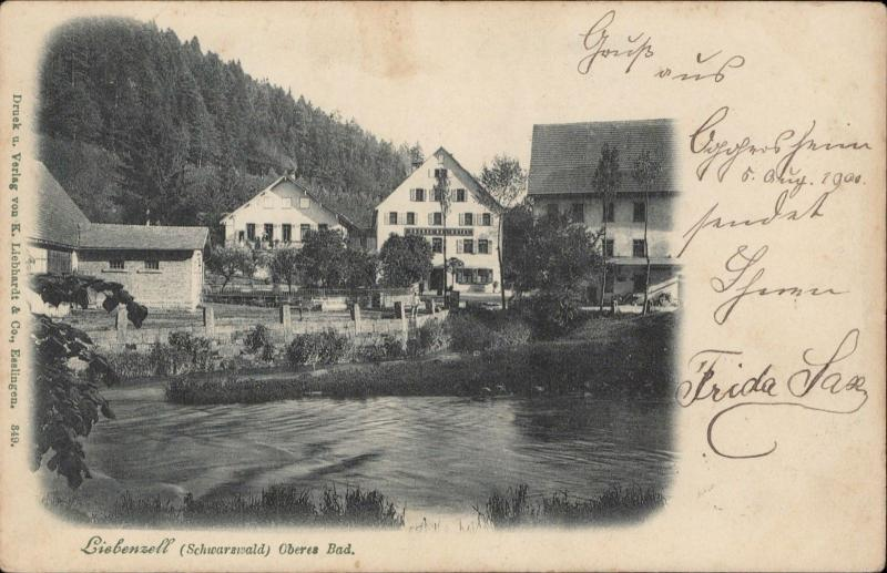Liebenzell Schwarzwald Oberes Bad Germany 1900 old postcard