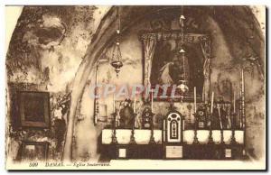Postcard Old Damascus Church Underground