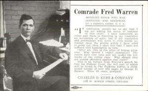 Communism Socialism Comrade Fred Warren Chas Kerr Co Chicago Postcard myn