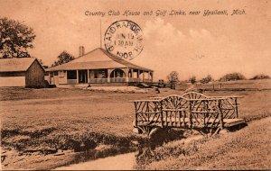 Michigan Ypsilanti Country Club House and Golf Links 1908