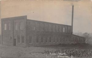 E85/ Hartville Ohio RPPC Postcard Stark County 1914 Rubber Works Factory