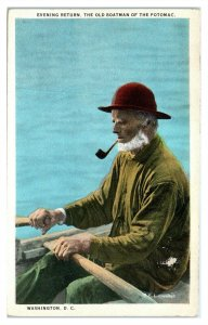 Old Boatman of the Potomac, Washington, DC Postcard *6V(2)25