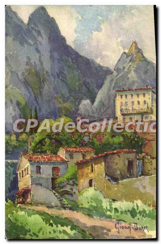 Old Postcard Menton Ravine Du Pont St Louis