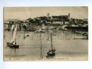 138512 France CANNES Fishing Boats Port & Mont-Chevalier view