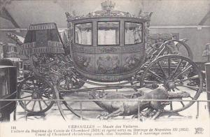 France Versailles Count Of Chambord Christening Coach and Napoleon III Marria...