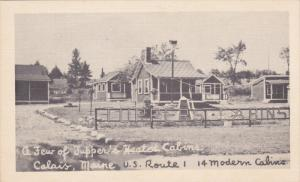 A Few of Tupper´s Heated Cabins, CALAIS, Maine, 20-30s