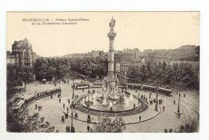 Place Castellane Et La Fontaine Cantini, Marseille (Bouches-du-Rhône), Franc...
