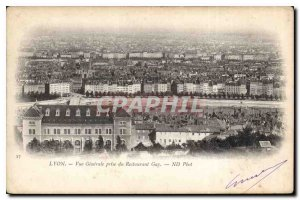 Old Postcard Lyon General view from the restaurant Gay
