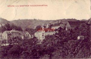 GRUSS VOM GASTHOF NIEDERWARTHA GERMANY 1906