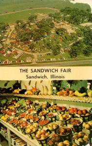 IL - Sandwich. The Sandwich Fair, Aerial View, Agriculture