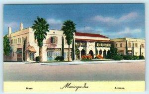 MESA, Arizona AZ  Roadside MARICOPA INN ca 1940s Linen Postcard