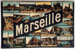 5 VINTAGE POSTCARDS OF MARSEILLE. Several Printers. UNUSED!!!