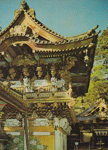 Japan Nikko The Side Of The Yomeimon Gate