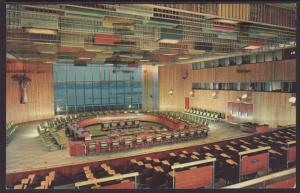 Trusteeship Council Chamber,UN Postcard BIN