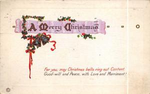 Christmas Post Card Old Vintage Antique Xmas Postcard 1923