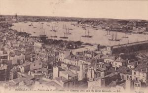 General View And The River Gironde, BORDEAUX (Gironde), France, 1900-1910s