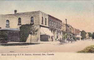 ATTWOOD , Ontario , 1911 ; Main Street from G.T.R. Station