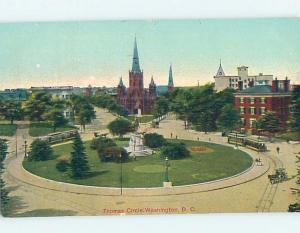 Divided-Back PARK AND CHURCH AT THOMAS CIRCLE Washington DC ho2983