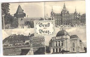 RP, Card With 4 Views Plus A Pop-up With 7 Small Views, Gruss Aus Graz, Austr...