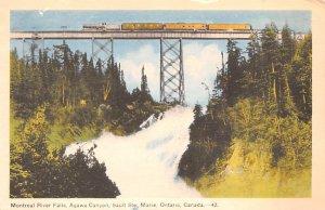 Montreal River Falls Ontario 1952