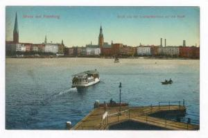 Gruss aus Hamburg  , Germany, 00-10s , Blick von der Lombardsbrucke auf die S...