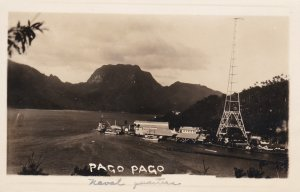 RP: PAGO PAGO , Samoa , 1900-1910's; Wireless Station & Waterfront