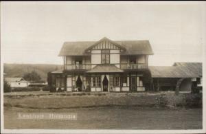 Landhuis Hollandia c1920 Real Photo Postcard
