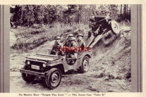 NO MATTER HOW TOUGH THE GOIN' - THE JEEPS CAN TAKE IT U.S. Army photograph