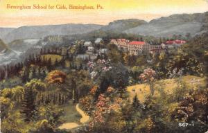 Birmingham Pennsylvania~Birdseye Panorama~School for Girls~1908 Artist Postcard