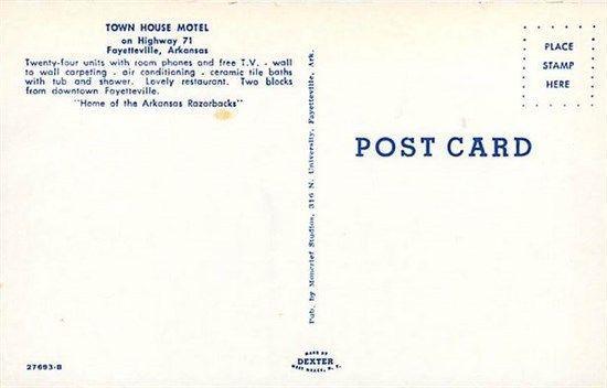 AR, Fayetteville, Arkansas, Town House Motel, Multi View, Dexter No. 27693-B