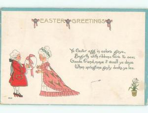 Divided-Back CHILDREN AT EASTER SCENE Great Postcard AA1693