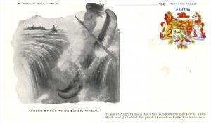 New York Niagara  Falls  Legend of the Winter Canoe