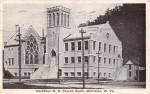 Marlinton West Virginia~Methodist Episcopal Church South~House~1936 B&W PC