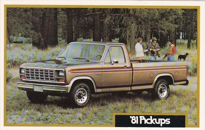 Advertising 1981 Ford Pickup Trucks John Grappone Ford Bow New Hampshire
