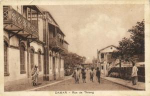 CPA Sénégal Afrique Dakar - Rue de Thiong (68183)