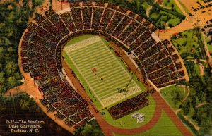 North Carolina Durham The Stadium Duke University 1953 Curteich