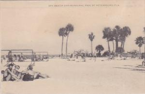 Florida Saint Petersburg Spa Beach And Municipal Pier