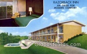 Razorback Inn, Hardy, AK, USA Motel Hotel Postcard Post Card Old Vintage Anti...