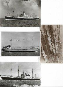 Nautica Boats Ships Mix M.S Alcinous M.S Mathilde Postcard Lot of 8 L2