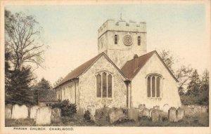 Parish Church - Charlwood St. Nicholas Church England c1910s Vintage Postcard