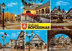 Gruss aus Hofgeismar, Buergerhaus Rathaus Brunnen Fachwerk Partie Town Hall